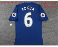 Wholesale 16 manchester home and away soccer jersey with league patches ROONEY IBRAHIMOVIC MATA POGBA home and away player version soccer jersey