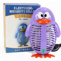 Wholesale Cartoon Penguin Electronic Mosquito Killing Lamp Mosquito killer lamp Mosquito repellent lamp Pest Control Mosquito Buster Free DHL
