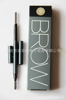 Wholesale MYBOO double eyebrow pencil B22 automatic rotation waterproof anti sweat with eyebrow brush