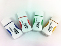 Wholesale great quality usb2 panda card reader t flash card reader TF card micro sd card reader adapter