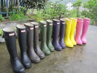 Wholesale 100 Originals Hunter Boots Women Wellies Rainboots Ms Glossy Hunter Wellington Rain Boots Wellington Knee Boots Fast Delivery DHL free