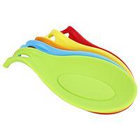 Wholesale NEWSilicone Heat Resistant Spoon Fork Mat Rest Utensil Spatula Holder Kitchen Tool
