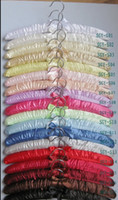 Wholesale silk satin cloth sponge hanger mm length the price is base on pieces you can mised for different color