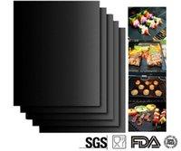 Wholesale BBQ Grill Mat non stick resistant pad barbecue barbecue pad Teflon pad Mats Baking Reusable