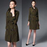 designer coats - Brit Top Fashion Anti Wrinkle Fabric Trench Coat For Women Temperament Dress Coat European Top Fashion Designer Brand Style BC1122