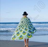 bath mat blue - Fashion Design Round Tassel beach towels Indian Hippie Mandala Round Beach Towel Throw Tapestry Wall Hanging Yoga Mat