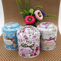 Wholesale 75 mm Multi colors options Coffee Sugar Tea Tin Box Storage Creative Mushroom candy box Wedding Supplies Favors