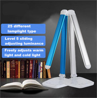 Cheap LED Desk Lamp, Eye-care Folding Table Lamps, 5-Level Dimmer 10W Touch Sensitive Control, Reading Lamps Bedroom Lamps