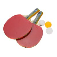 Wholesale Table Tennis Set Racket Ball Racket Pouch Long Handle Shake hand Ping Pong Paddle Blue PingPong Rack Indoor Outdoor order lt no tr
