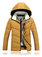Wholesale Retail Men s Fashion Brand Hooded Down Parkas Occident Jacket For Men Winter Warm Coat