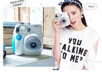 Wholesale Jingle shot a beauty essential imaging Polaroid camera pink blue AF flash mini7S