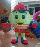 baseball softball pants - Sportive Green Tennis Tenis Ball Baseball Softball Soft ball Mascot Costume Cartoon Character Mascotte Red Hat Pants No FS
