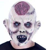 adult brain - 2016 Hot Sale Scary Halloween Mask Headgear Bar Decoration Props Super Horror Devil Rotten Head Burst Brain Mask