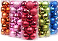 Wholesale The bright photosphere Christmas ball cm24 plastic Christmas tree Christmas balls ball pendant window of