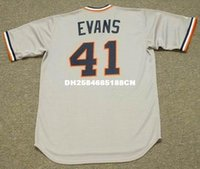 Wholesale DARRELL EVANS Detroit Tigers Majestic Cooperstown Away Baseball Jersey