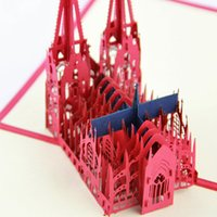 ai cut - AI Kolner Dom Cologne Cathedral pop up card D card laser cut d card