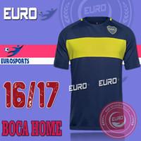 México Club 2016 Boca Jerseys de fútbol de fútbol Home Away 3ro negro Maillot de pie CARLITOS top de Tailandia camisa de fútbol de calidad Uniformes