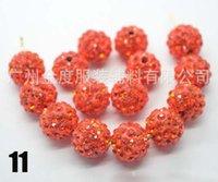 Wholesale Orange AAAA Row mm Gradient change Crystal Shamballa Beads DIY For jewelry making S0010