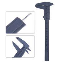 Wholesale 1pcs Inch mm Plastic Ruler Sliding Gauge Vernier Caliper Jewelry Measuring