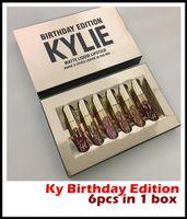 Wholesale Factory Direct Hot Kylie Cosmetics Matte Liquid Lipstick Mini Kit Lip Birthday Edition Limited With the Golden Box set Lip Gloss