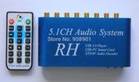 Wholesale 1pcs New USB Digital Sound Media Player CH Audio System Blue DTS AC3 SPDIF Audio Decoder usb flash disk gb