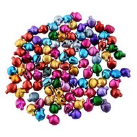 bead wall hanging - 100 piece Jingle Bells Xmas Charms Mixed Beads Pendants Xmas Festival Party Home Christmas Tree Hanging Decor Gift Ornaments