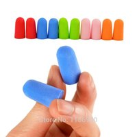 Wholesale 1Pairs Soft Foam Ear Plugs Tapered Sleep Noise Prevention Earplugs Reduction For Travel Blue Orange Green Pink Red