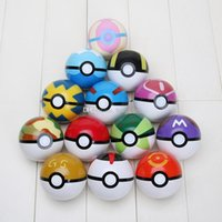 Wholesale 13pcs set ABS Action Anime Figures pikachu balls PokeBall Fairy Ball Super Ball poke Ball Kids Toys Gift approx cm