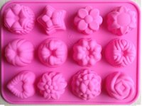 Wholesale Flower shape Muffin case Candy Jelly Ice cake Silicone Mould Mold Baking Pan Tray Silicone Muffin Cases Cake Cupcake Nonstick Liner Baking