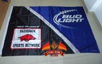 arkansas university - University of Arkansas with BUD light Flag X150CM size stain material Digital printing double layers