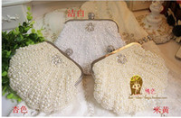bale bags - High end Shell Pearl Bales Dinner Party Bride Dress Package Bag Chain Hand Bag Bag