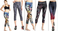 best yoga pants - 2016 Women New Sexy fashion Multi Color D Print was thin qualities elegant Leggings seven Pants yoga Sports Pants best quality low price