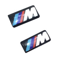 badges cars - Hot Sale Self Adhesive M Sport Car BADGE STICKER EMBLEM For BMW M1 M3 M3 M5 M6 Wheel
