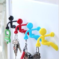 Wholesale Creative Mini Strong Man Magnetic Key Pete Wall Climbing Magnet Holder Rack Hook Refrigerator Sticker for Home Decor Novelty Items Hot Sale
