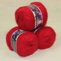 angora goats - Sale balls MOHAIR Angora goats Cashmere silk hand Yarn Knitting dark red