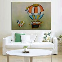 balloons cartoon pictures - New Modern Design Decorative Oil Paintings Art Pictures High Quality Concert on Hot Balloon Wall Stickers On Canvas Home Decor