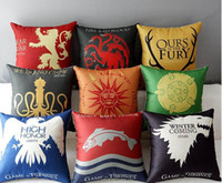 adult memory games - Song of Ice and Fire Game of Thrones Cushion cover Sofa Decorative Throw Pillowcase Home Chair Car Seat Cojines almofadas