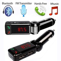 Wholesale BC06 Bluetooth Car Charger Wireless Mini Dual Port AUX FM Transmitter MP3 Player Car Kit Charger for iPhone Samsung