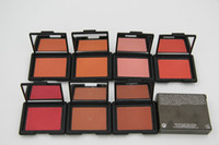 Wholesale 7pcs Brand Makeup blush bronzer Baked Cheek Color blusher palettes different color fard a joues poudre