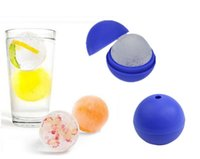 Wholesale 10 Creative Silicone Blue Wars Death Star Ball Ice Cube Mold Tray Desert Sphere Mould DIY Bar Party Cocktail