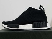 Wholesale High Quality Mens Womens Kids NMD City Sock Core Black Running Shoes