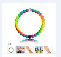 balance channel - 2016 Newest Silicone Balance Bracelet Mud and Water Black and White Beads Silicone Bracelet Gift Jewelry Find Your Balance
