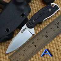 Cheap Fixed Blade crkt Best outdoor gear 440C skin knife