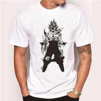 balls japan - 2017 Japan anime Dragon Ball Z T Shirt Super Saiyan Short Sleevest shirt men Son Goku Tees Tops Men Clothes Plus size
