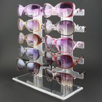 aluminum glass display - LHLL Pair Acrylic Sunglasses Glasses Retail Shop Display Unit Stand Holder Case