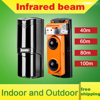 Wholesale New Beams Photoelectric Beam Detector Active Infrared Detector Alarm Distance m egomall