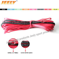 Wholesale x3 lb mmx12m uhmwpe braided synthetic winch line instead of Wire Cable ATV winch rope