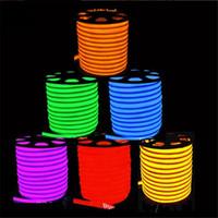 neon lights - 50 Meters Led Neon Flexible Tube Strip White Warm White Yellow Red Green Blue V Waterproof IP68 Lantern Flexible Neon Light