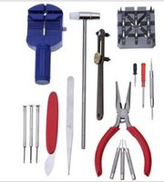 Wholesale 16PCS Watch Repair Kit Set Wrist Strap Adjust Pin Tool Kit Back Remover Fix Tool