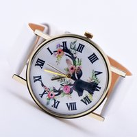Wholesale 2016 pastoral Strawberries Flower ROMA design watch fashion womens ladies dress leather girls quartz wrist watch